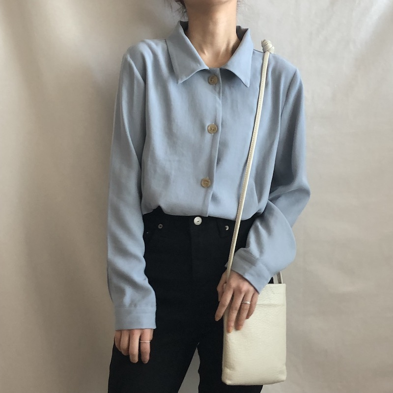 Crop pintuck shirt blouse in 3 colors